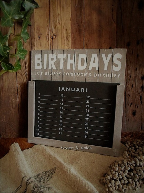 Kalender Birthdays in taupe