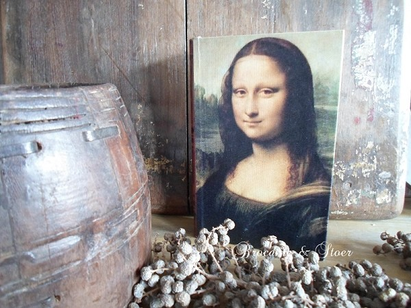 Decoratie boek Mona Lisa