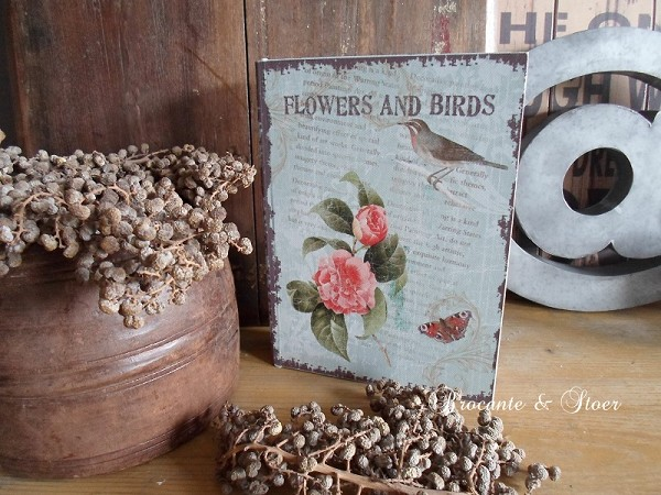 Decoratie boek Flowers