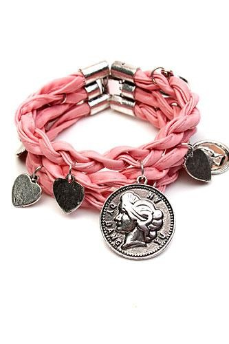 Armband Pink leather
